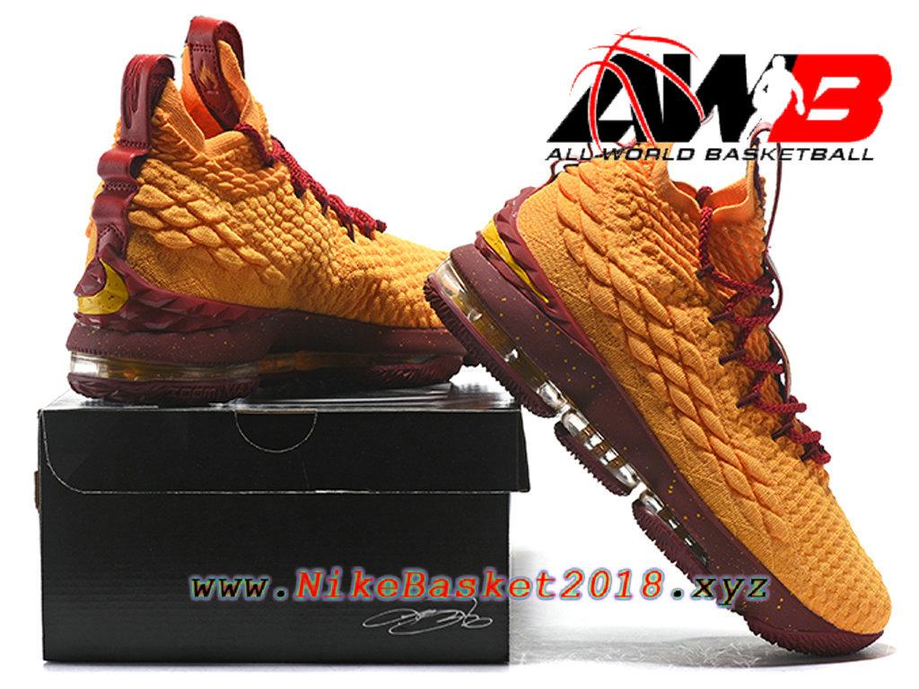 698802b6b6dc8 ... Chaussures de BasketBall Pas Cher Pour Homme Nike LeBron 15 Prix Jaune ROuge  897648-ID18
