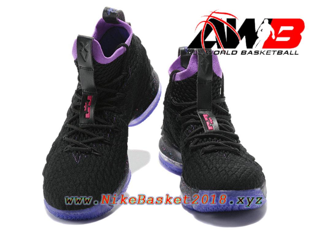 e9b1021f27431 ... Chaussures de BasketBall Pas Cher Pour Homme Nike LeBron 15 Prix Noir  Violet 897648-ID22 ...