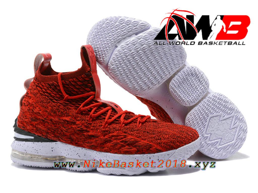 e127c5e3fd15d ... Chaussures de BasketBall Pas Cher Pour Homme Nike LeBron 15 Prix ROuge  897648-ID24 ...