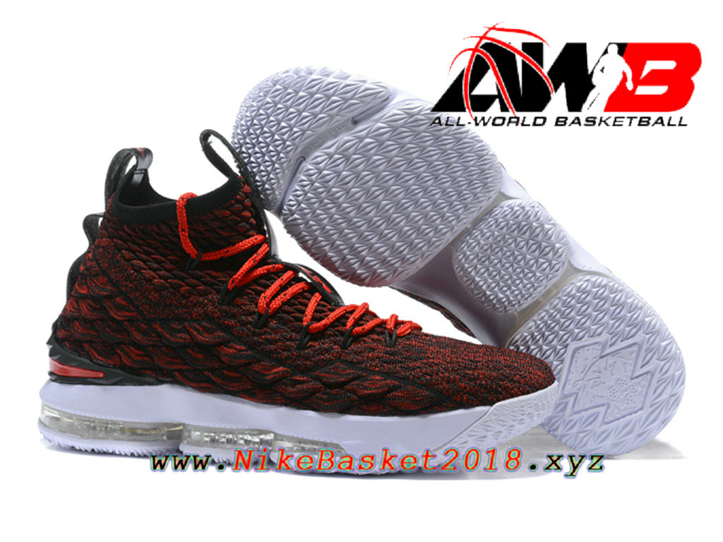 22ab579e8ad16 ... Chaussures de BasketBall Pas Cher Pour Homme Nike LeBron 15 Prix Rouge  Blanc 897648-ID21 ...