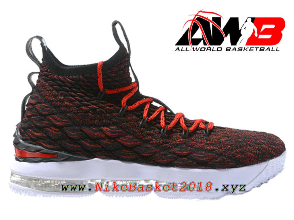 44545e303540 Chaussures de BasketBall Pas Cher Pour Homme Nike LeBron 15 Prix Rouge Blanc  897648-ID21 ...