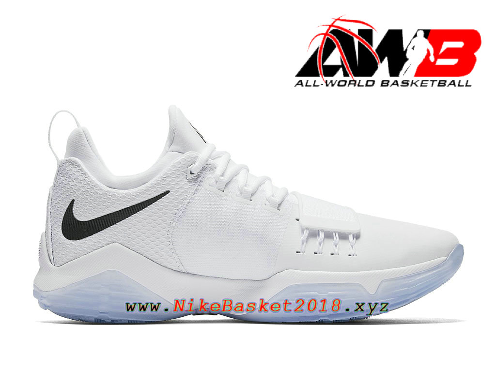 Chaussures de BasketBall Pas Cher Pour Homme Nike PG 1 White