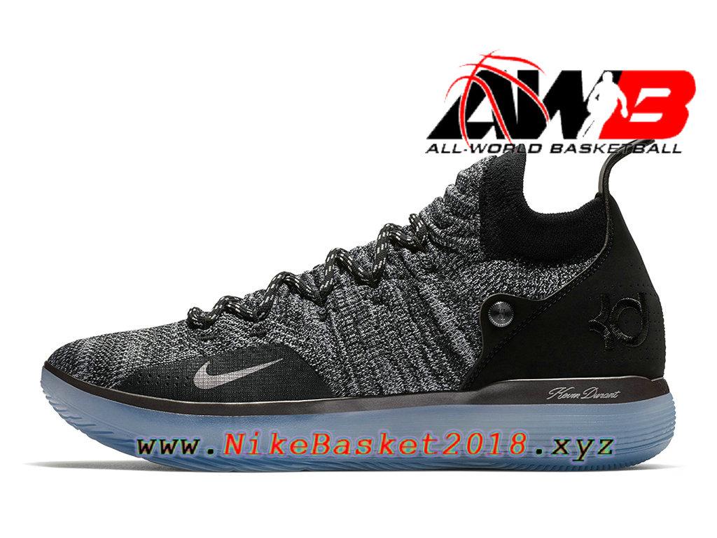 half off bca39 0ce13 Chaussures de BasketBall Pas Cher Pour Homme Nike Zoom KD 11 EP Gris Noir  AO2605- ...