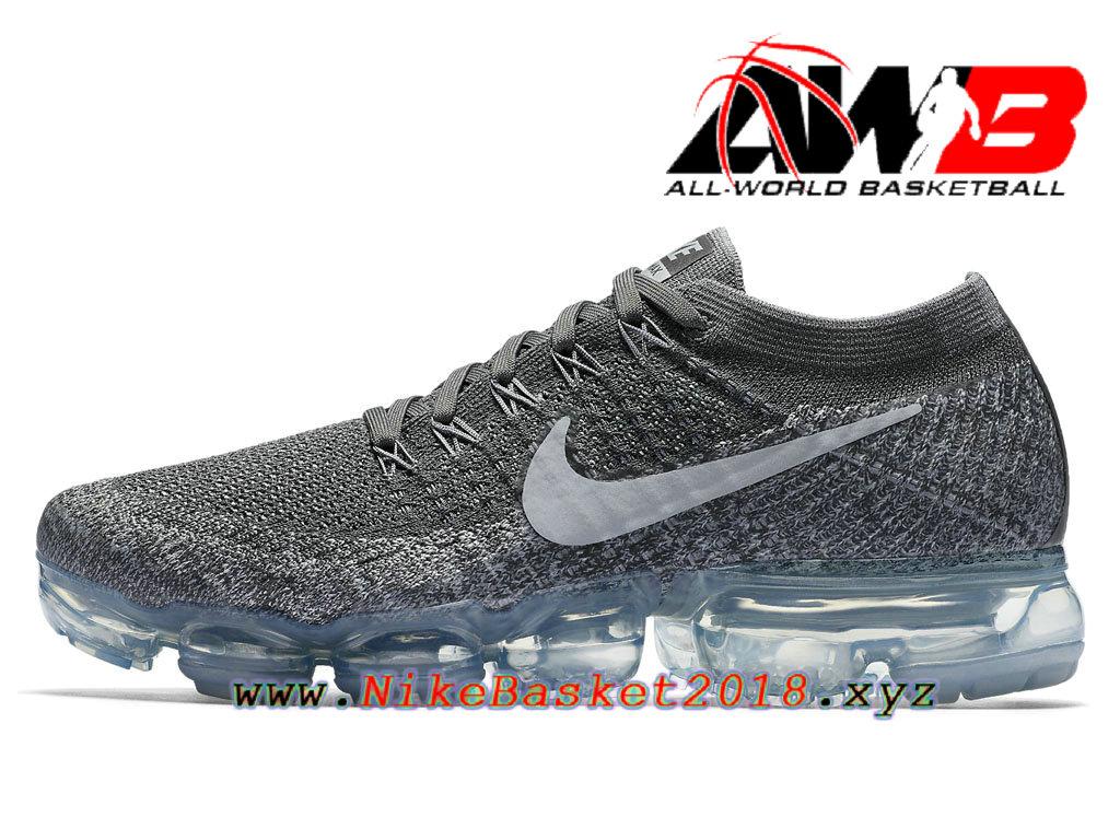 detailed pictures 0d8d3 45be4 Chaussures de Prix Pas Cher Pour Femme Nike WMNS Air Vapormax Flyknit GS  Asphalt 849557 002 ...