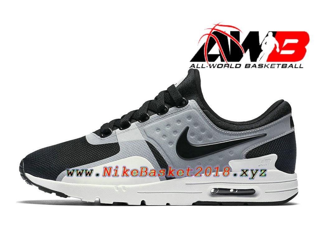 best service c784c accf8 ... cheap chaussures de running pas cher pour femme enfant nike air max  zero gs noir gris ...