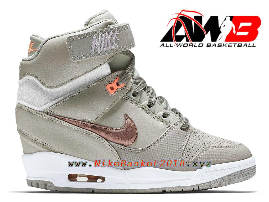 3bff6cd081 Chaussures Montante Nike Pas Cher Pour Femme Nike Air Revolution Sky Hi GS  Brun 599410-