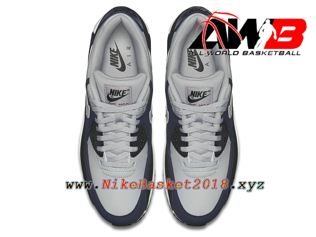 outlet store b8fc8 e9444 ... Chaussures Nike 2018 Pas Cher Pour Homme Nike Air Max 90 Leather Noir  Blanc 652980- ...