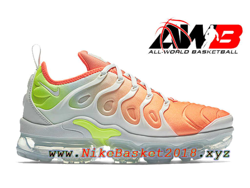 info for b29de 1e6ad Chaussures Nike 2018 Pas Cher Pour Homme Nike Air VaporMax Plus Orange Blanc  AO4550-003 ...