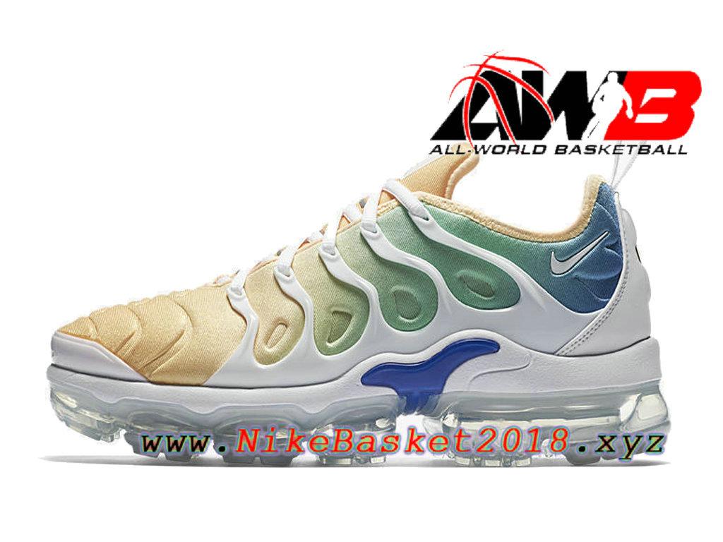 the best attitude 2e3a0 00a1c ... Chaussures Nike 2018 Pas Cher Pour Homme Nike Air VaporMax Plus Orange  Bleu AO4550-100 ...