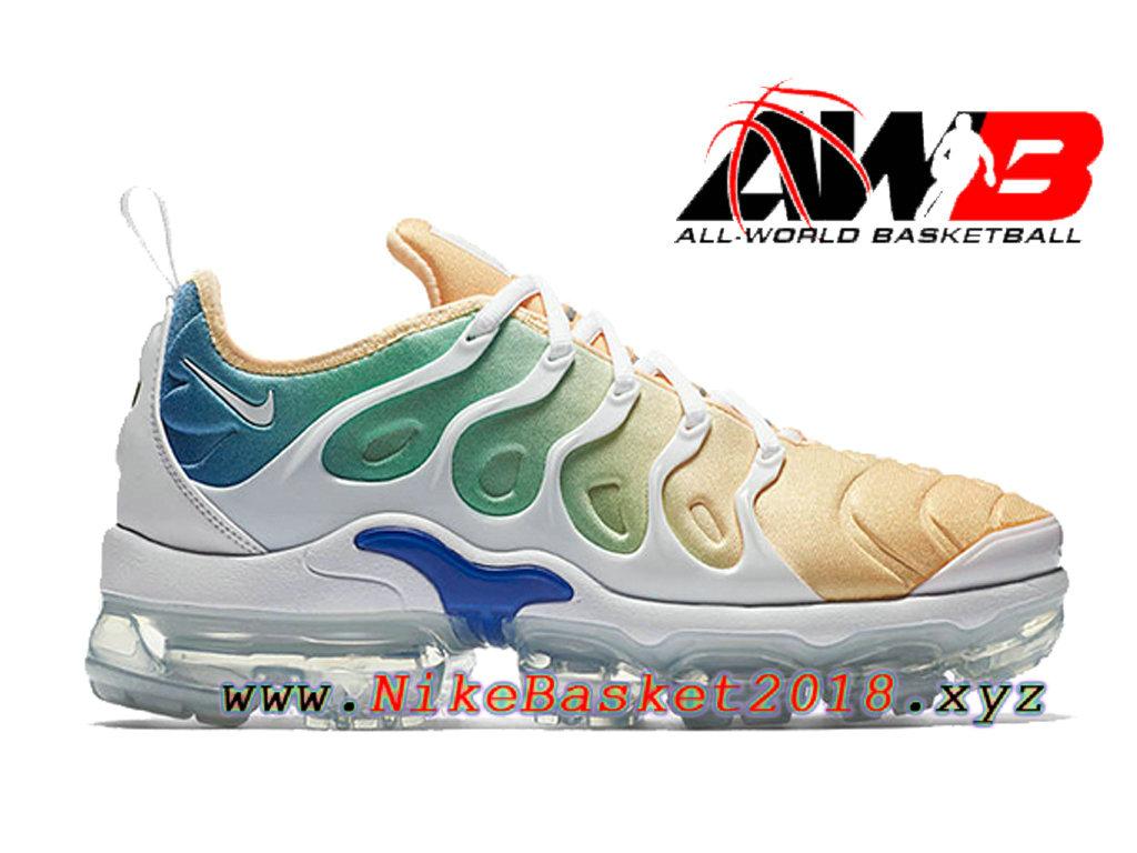 super popular 5acaa 479a2 Chaussures Nike 2018 Pas Cher Pour Homme Nike Air VaporMax Plus Orange Bleu  AO4550-100 ...