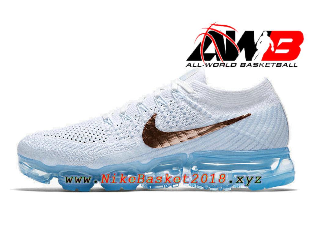 cheap for discount 76daf 46eb9 ... Chaussures Nike Basket Pas Cher Pour Femme Enfant Nike Wmns Air Vapormax  Blanc Or 849557 ...