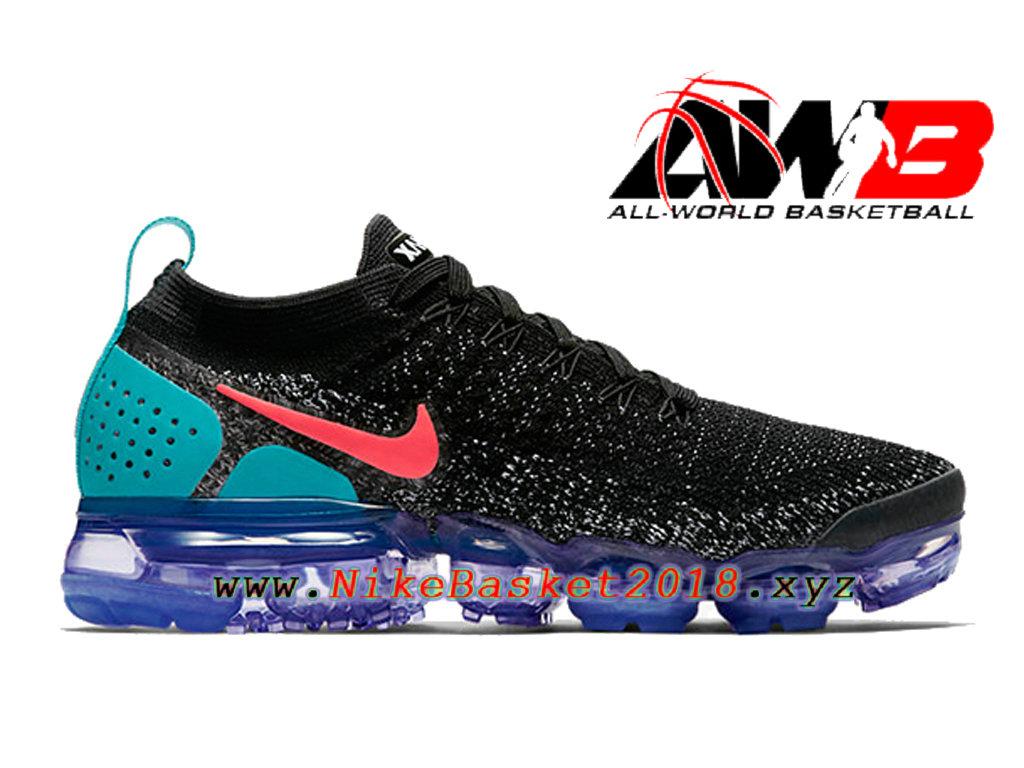 low priced 16f12 ef3c4 Chaussures Nike Basket Pas Cher Pour Femme Enfant Nike Wmns Air Vapormax  Flyknit 2.0 Noir