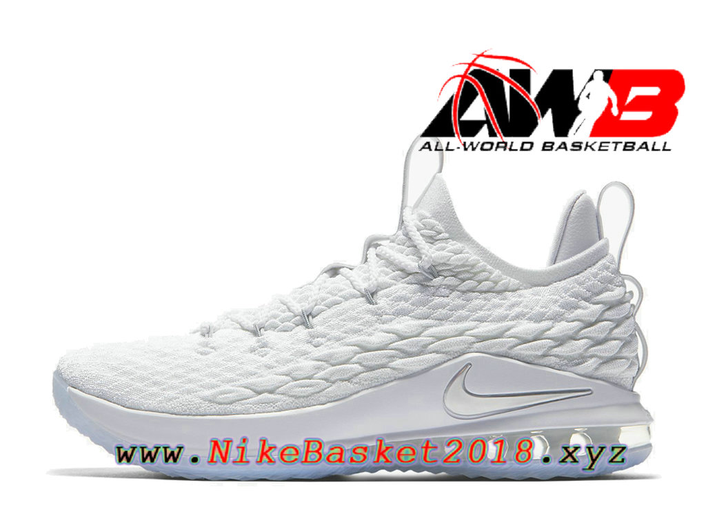 super popular f1b2f 66f0e Chaussures Nike BasketBall Pas Cher Pour Homme Nike LeBron 15 Low Blanc  AO1755-100
