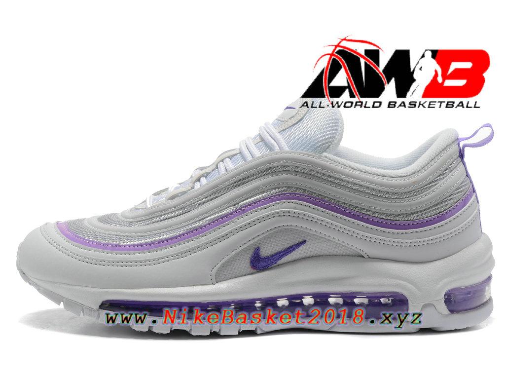 204cff23cf4 Chaussures Nike Prix Pas Cher Pour Femme Enfant Nike Air Max 97 Blanc Violet