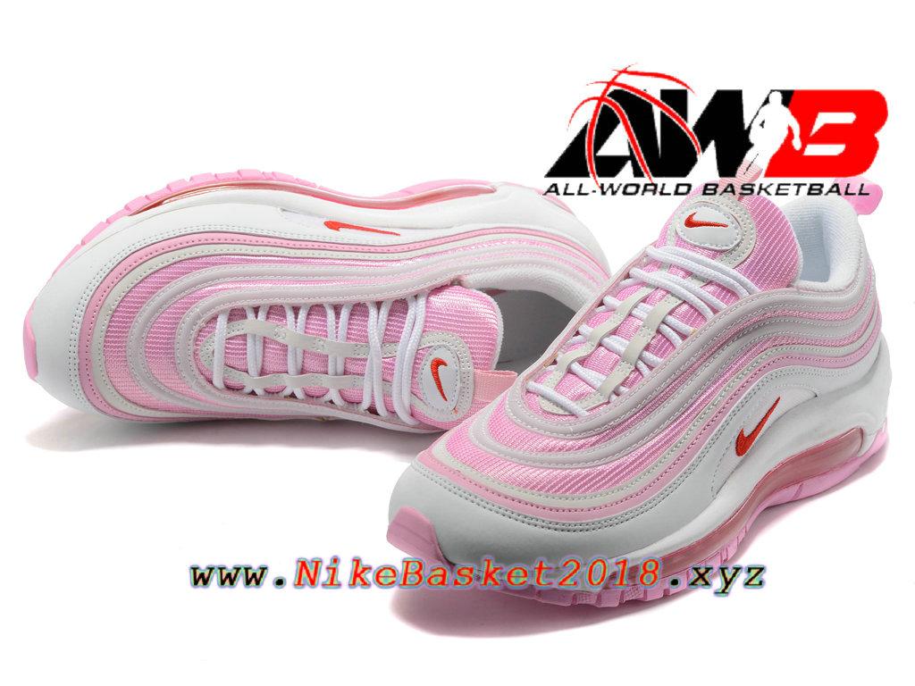 air max rose et blanche femme
