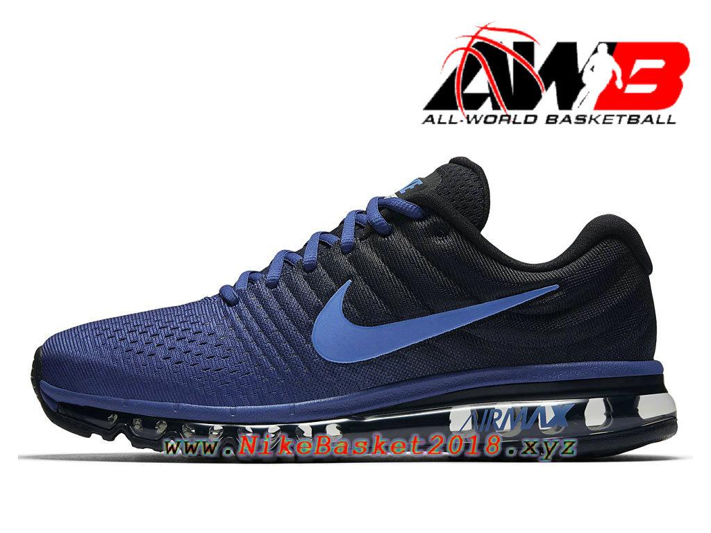 Chaussures Nike Air Max 2017 Bleu Rouge Homme BasketBall