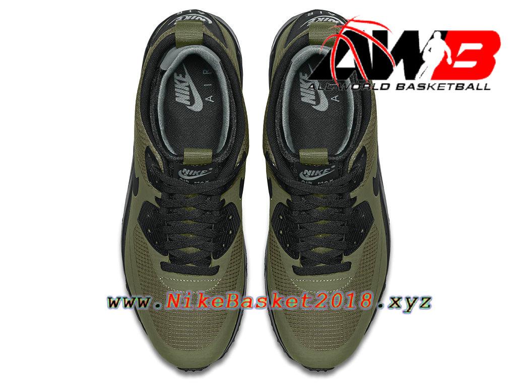 huge discount 87776 d0941 ... greece chaussures nike prix pas cher pour homme nike air max 90 mid  winter vert noir