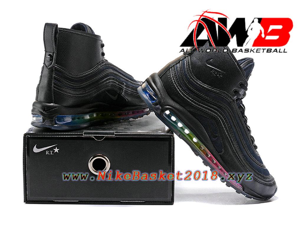 size 40 fa349 3e218 ... Chaussures Nike Prix Pas Cher Pour Homme Nike Air Max 97 Mid R.T Noir  Rose ...