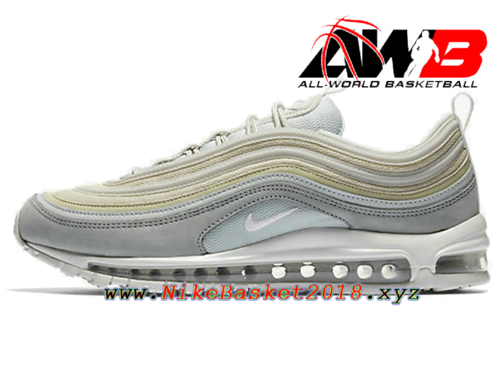 online retailer 480de d5dee Chaussures Nike Prix Pas Cher Pour Homme Nike Air Max 97 Premium Blanc  312834-004 ...