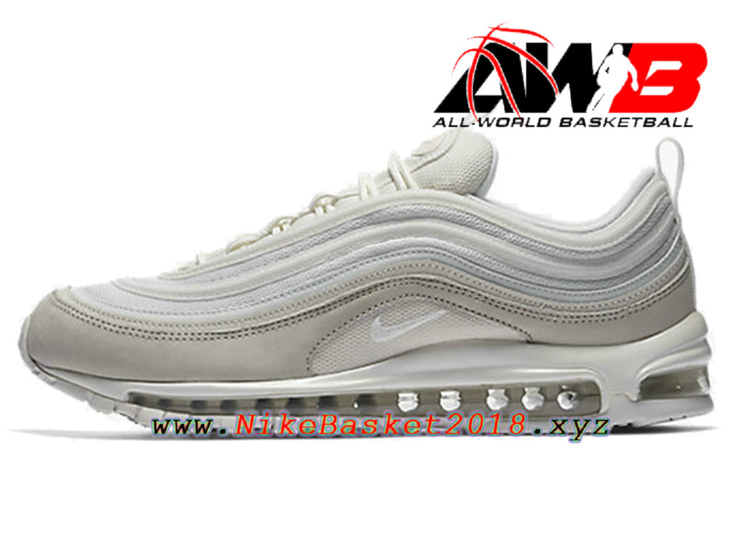 size 40 b211b 93150 Chaussures Nike Prix Pas Cher Pour Homme Nike Air Max 97 Premium Blanc  312834-006 ...