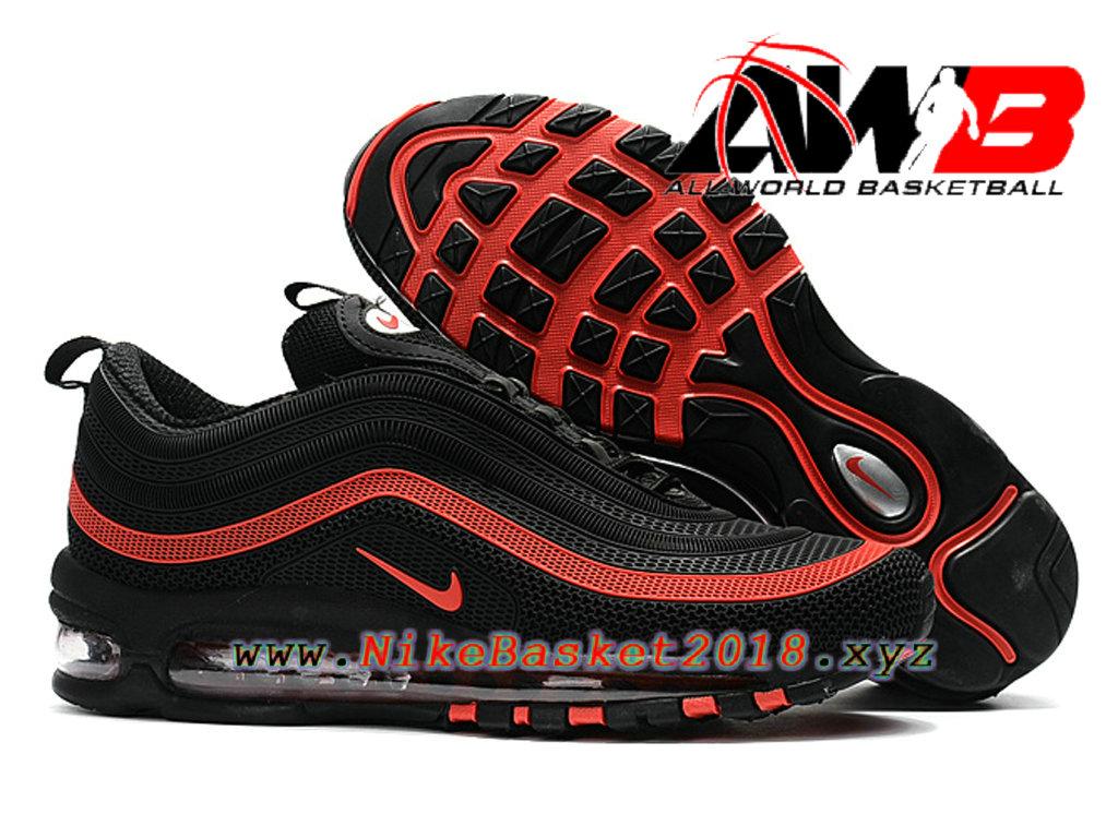 air max 97 noir et rouge homme