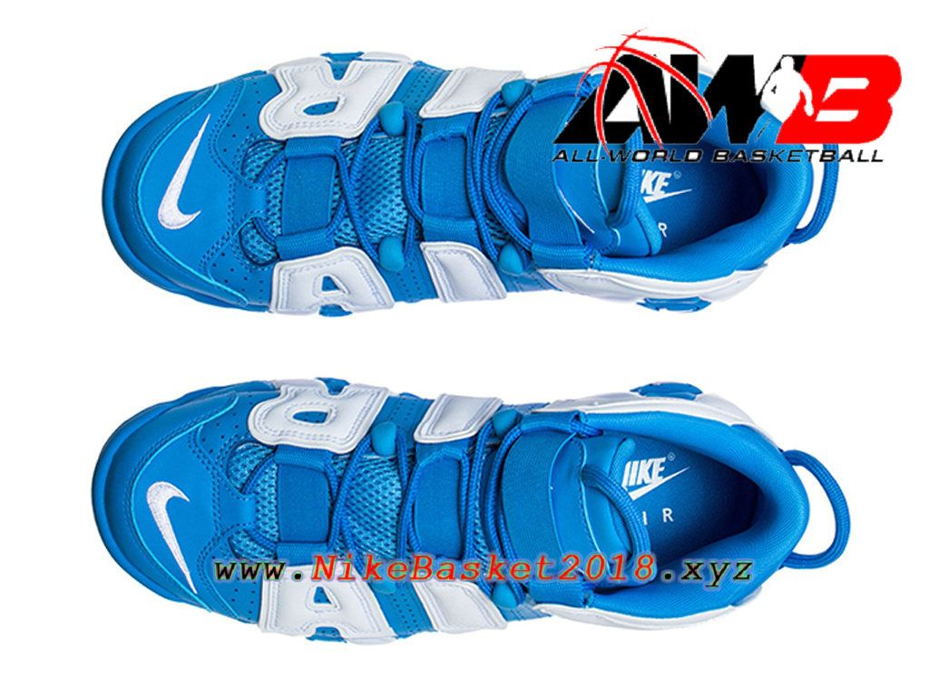 19f41cde4a2 ... Chaussures Nike Prix Pas Cher Pour Homme Nike Air More Uptempo ´96 Bleu  Blanc 921948 ...