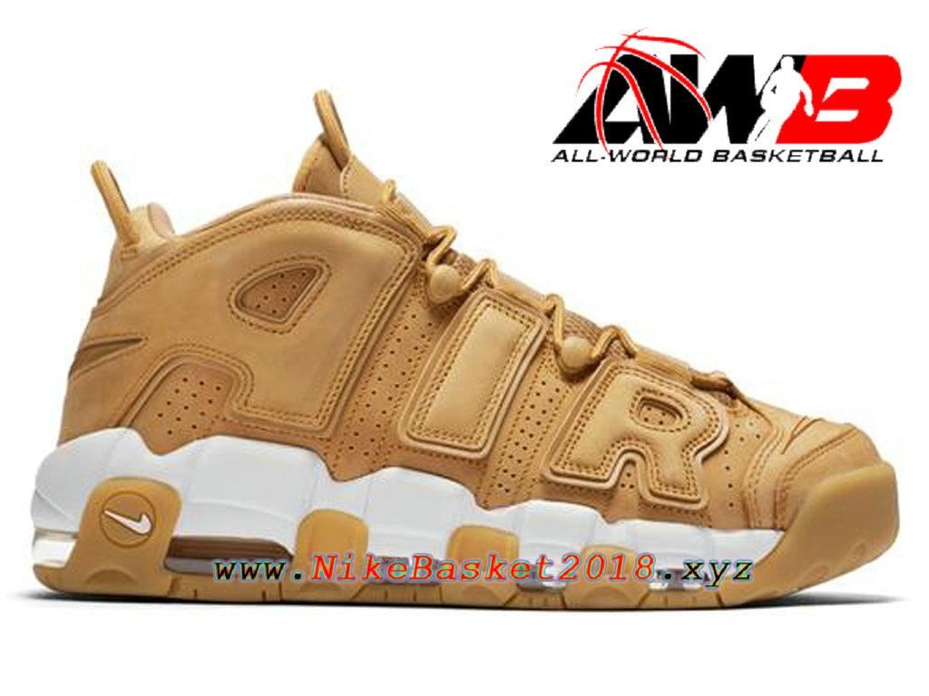 c266b42e0ba19 Chaussures Nike Prix Pas Cher Pour Homme Nike Air More Uptempo 96 PRM Brun  Blanc AA4060