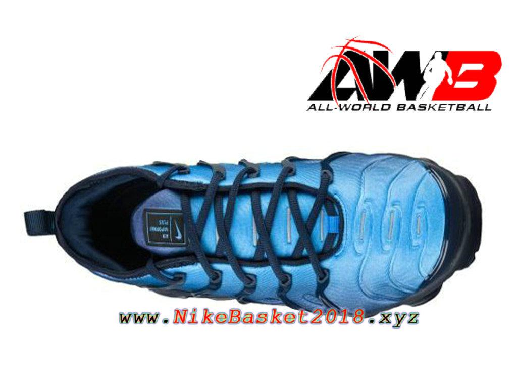 wholesale dealer 530d1 32b58 ... Chaussures Nike Prix Pas Cher Pour Homme Nike Air VaporMax Plus 2018  Bleu Noir 924453- ...