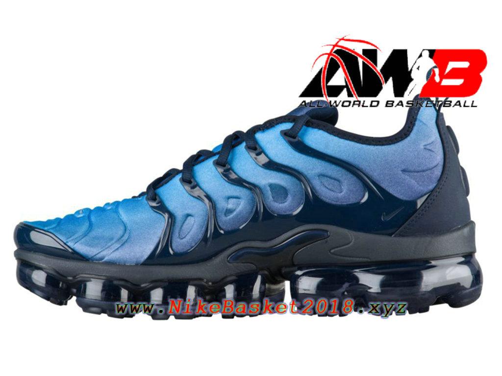 info for 110d8 d9aea Chaussures Nike Prix Pas Cher Pour Homme Nike Air VaporMax Plus 2018 Bleu  Noir 924453-