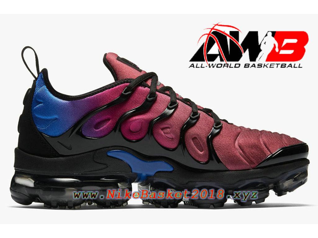 ... Chaussures Nike Prix Pas Cher Pour Homme Nike Air VaporMax Plus 2018 Noir Bleu AO4550- ...