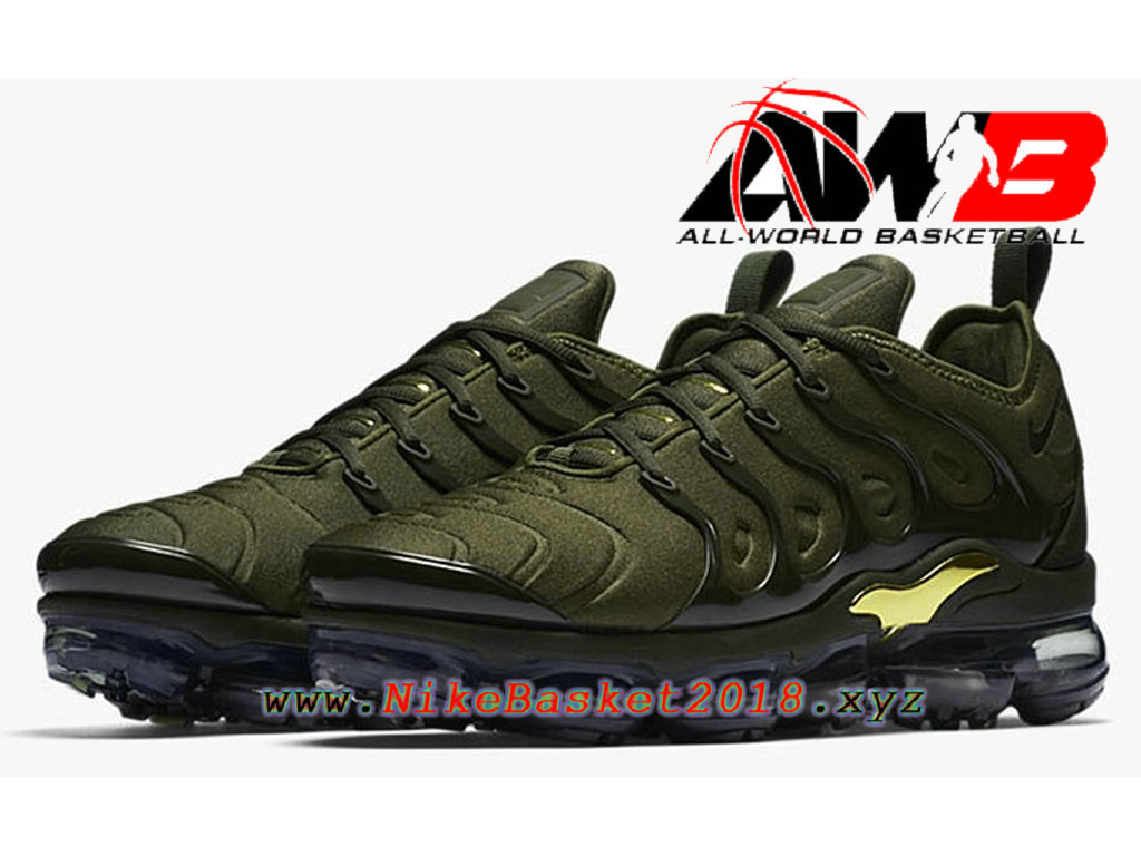 30807b1d9f2aa ... Chaussures Nike Prix Pas Cher Pour HOmme Nike Air VaporMax Plus 2018  Vert Or 924453- ...