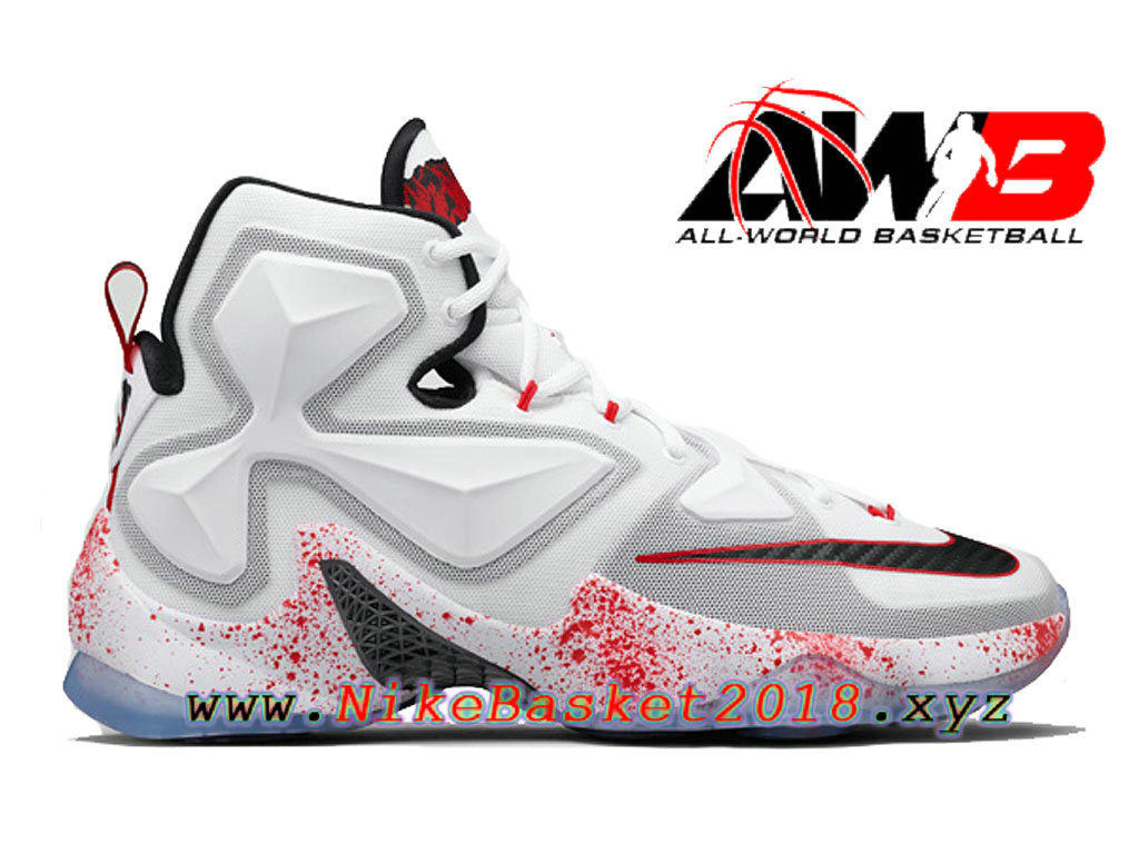 31bc57a3e7d ... discount code for chaussures nike prix pas cher pour homme nike lebron  13 horror flick blanc ...