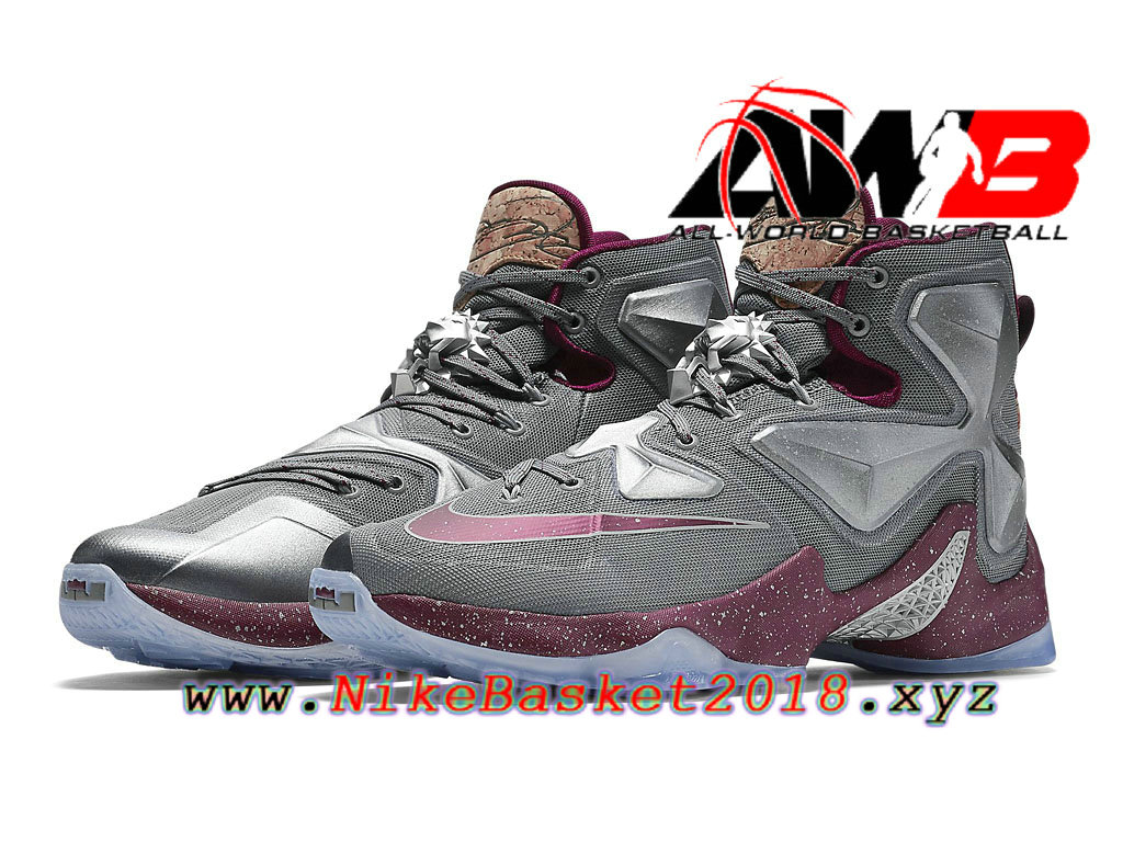 low cost de0cc 6a855 ... new zealand chaussures nike prix pas cher pour homme nike lebron 13  opening night gris rouge