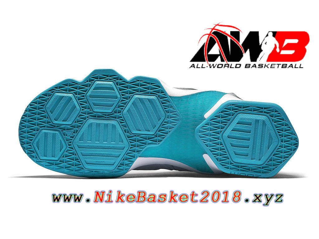 separation shoes b8c6f 38054 ... Chaussures Nike Prix Pas Cher Pour Homme Nike Lebron XIII 13 Blue Lagoon  807219 014 ...