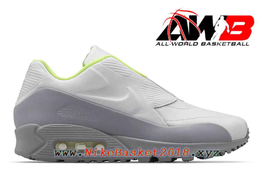 super popular f45a9 17c58 Chaussures Nike Prix Pas Cher Pour Homme NikeLab X Sacai Air Max 90 Gris  Blanc 804550 ...