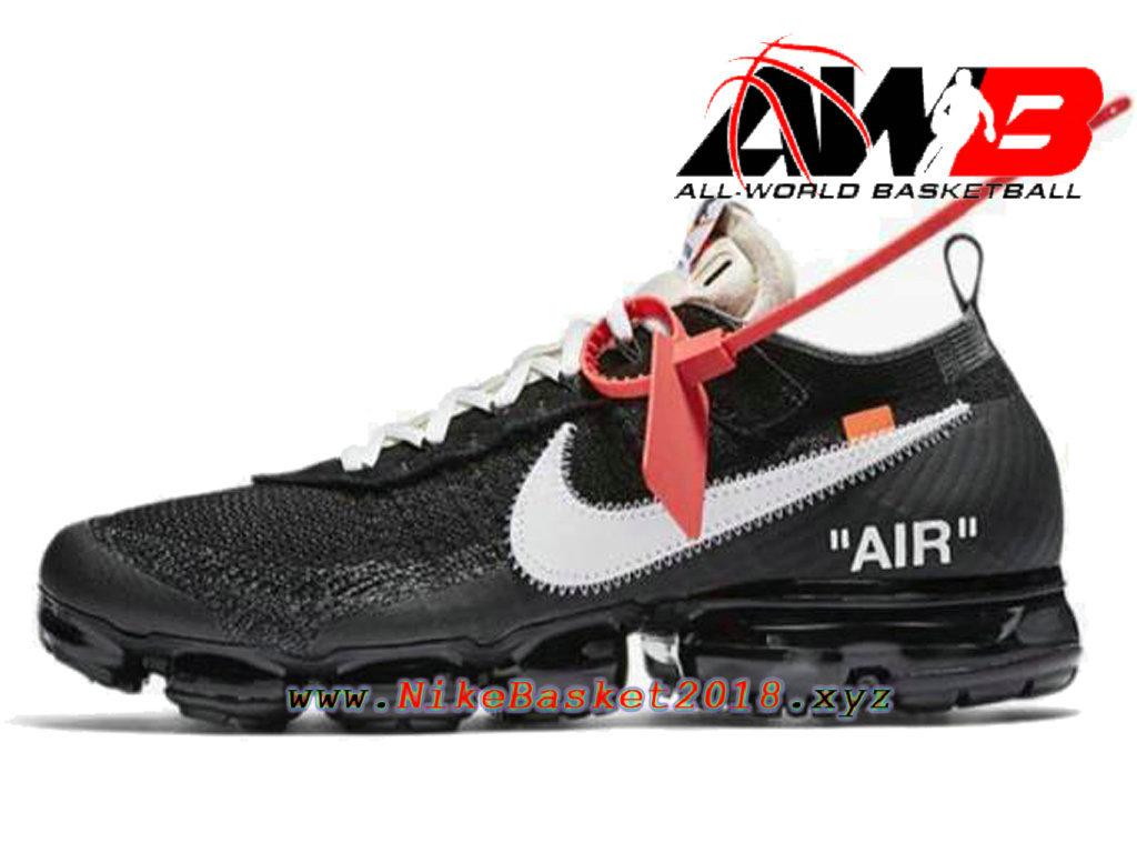 brand new db9e0 08a4d Chaussures Nike Prix Pas Cher Pour Homme Off-White X Nike Air VaporMax Noir  Blanc