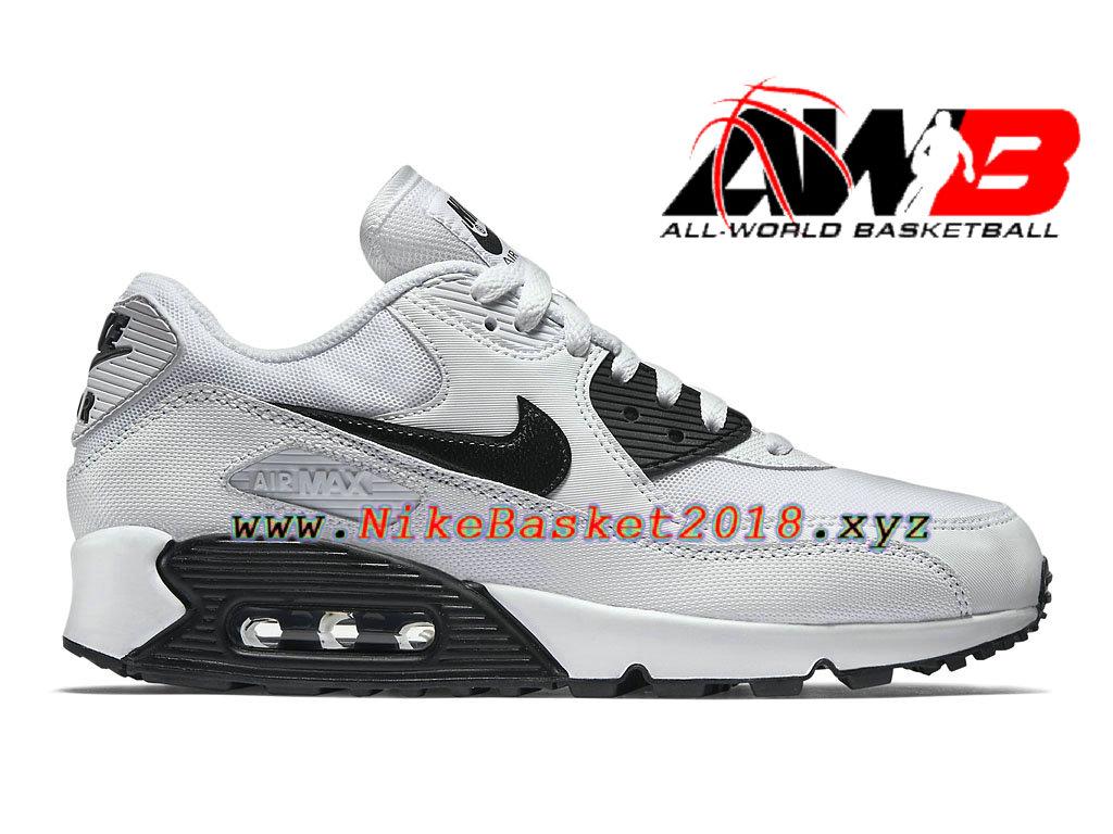 separation shoes dfd5e 79eb8 Chaussures Nike Running Pas Cher Pour Femme Enfant Nike Air Max 90  Essential GS Blanc