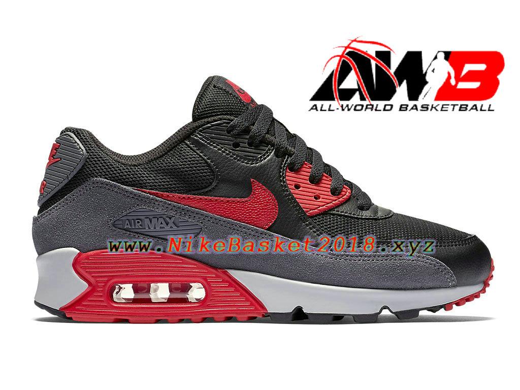 sports shoes 70412 7acb7 Chaussures Nike Running Pas Cher Pour Femme Enfant Nike Air Max 90  Essential GS Noir