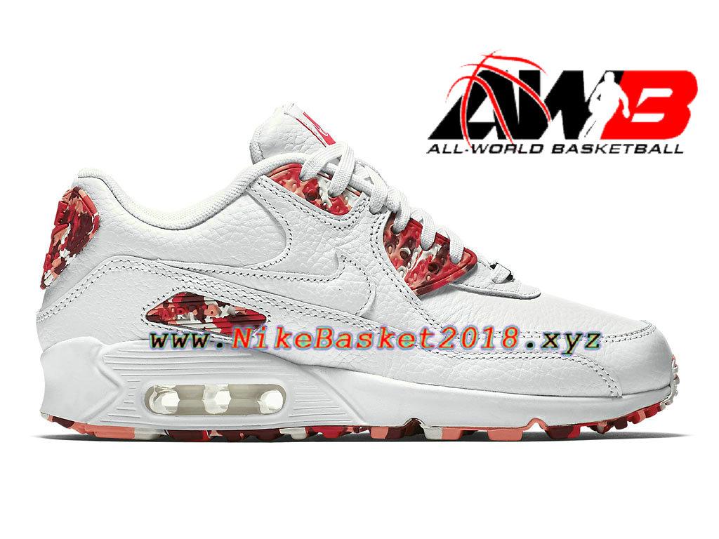 new concept b7b30 9a5f9 Chaussures Nike Running Pas Cher Pour Femme Enfant Nike Air Max 90 QS GS  Blanc