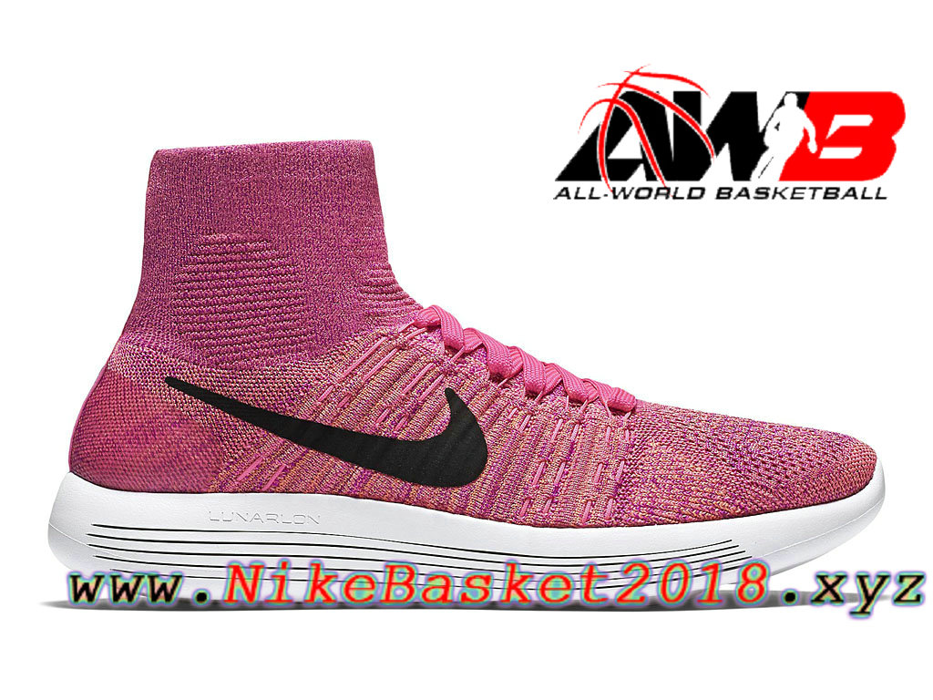 innovative design 74adb 35c9a Chaussures Nike Running Pas Cher Pour FemmeEnfant Nike LunarEpic Flyknit  GS Rose Noir 818677601 ...