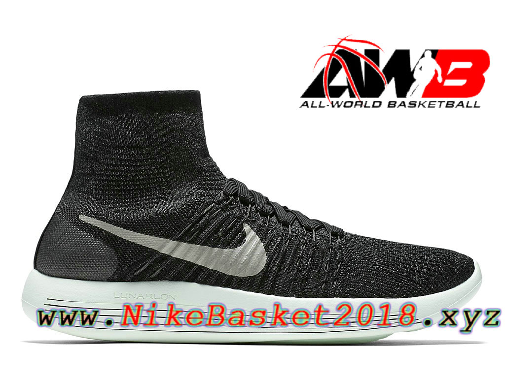 free shipping 11847 4718f Chaussures Nike Running Pas Cher Pour Femme/Enfant Nike LunarEpic Flyknit  MP GS Noir Blanc ...