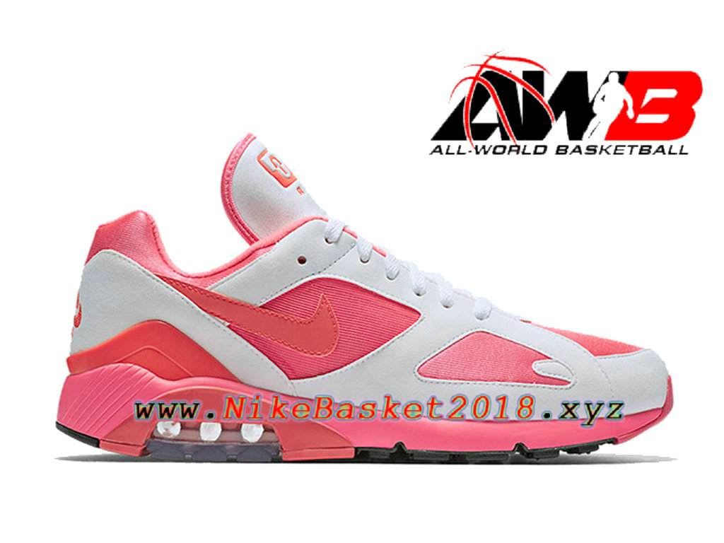 new product 6b063 dde82 Chaussures Nike Running Pas Cher Pour Homme Nike Air Max 180 CDG Blanc Rose  AO4641- ...