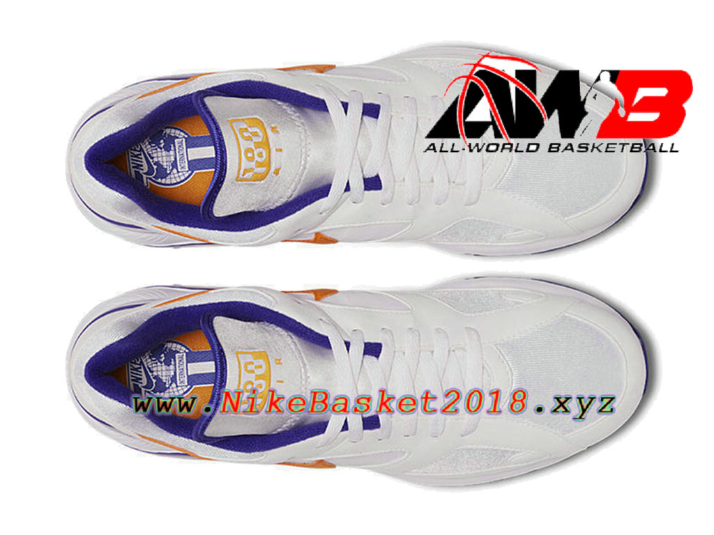 lowest price 2bbf7 b636d ... Chaussures Nike Running Pas Cher Pour Homme Nike Air Max 180 CDG Blanc  Violet 615287- ...