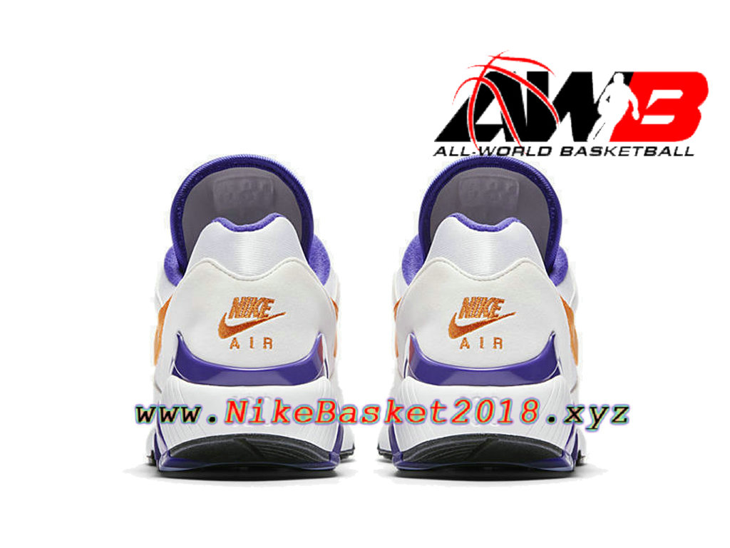 new product 52f08 b118d ... Chaussures Nike Running Pas Cher Pour Homme Nike Air Max 180 CDG Blanc  Violet 615287-