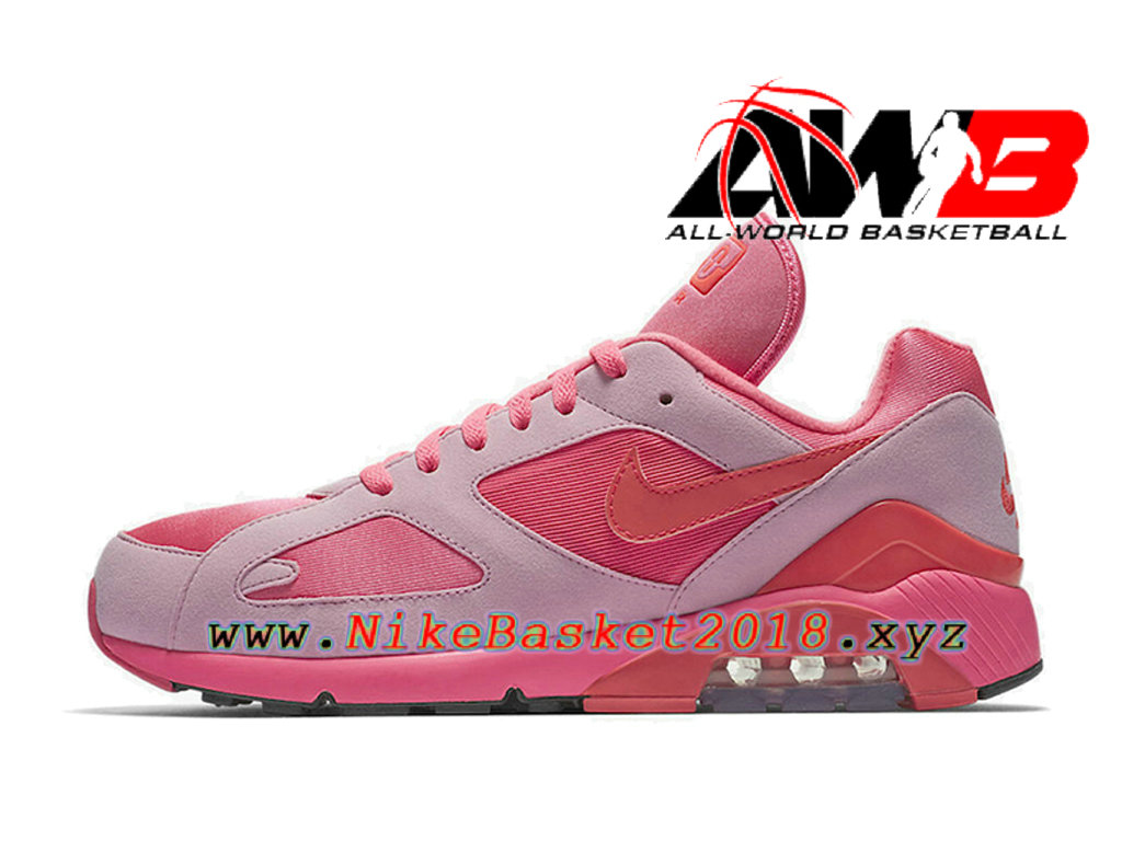size 40 d26c2 a3cc3 ... Chaussures Nike Running Pas Cher Pour Homme Nike Air Max 180 CDG Rose  Blanc AO4641- ...