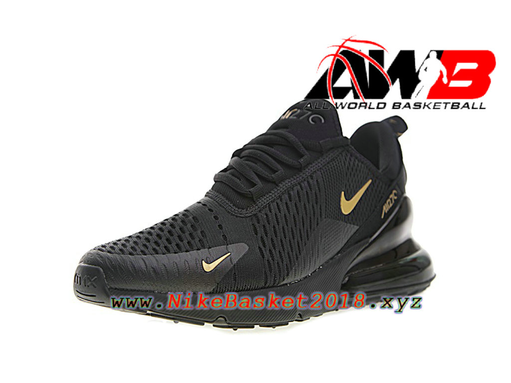 half off 7d1ca c6f41 ... Chaussures Nike Running Pas Cher Pour Homme Nike Air Max 270 Noir Or  AH8050-007 ...