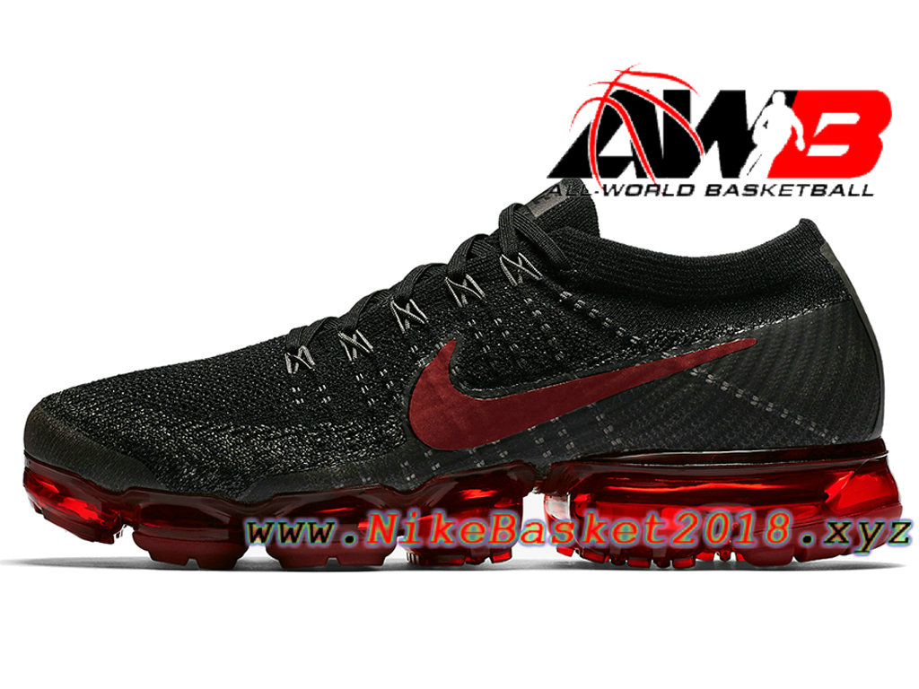 detailed look fd872 184ce Chaussures Nike VaporMax 2018 Pas Cher Pour Homme Nike Air VaporMax Bred  Noir Rouge 849558-