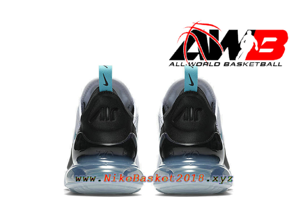 4d67b2d77049a ... Chaussures Officiel 2018 Pas Cher Pour Homme Nike Air Max 270 Blanc Noir  AH8050-001