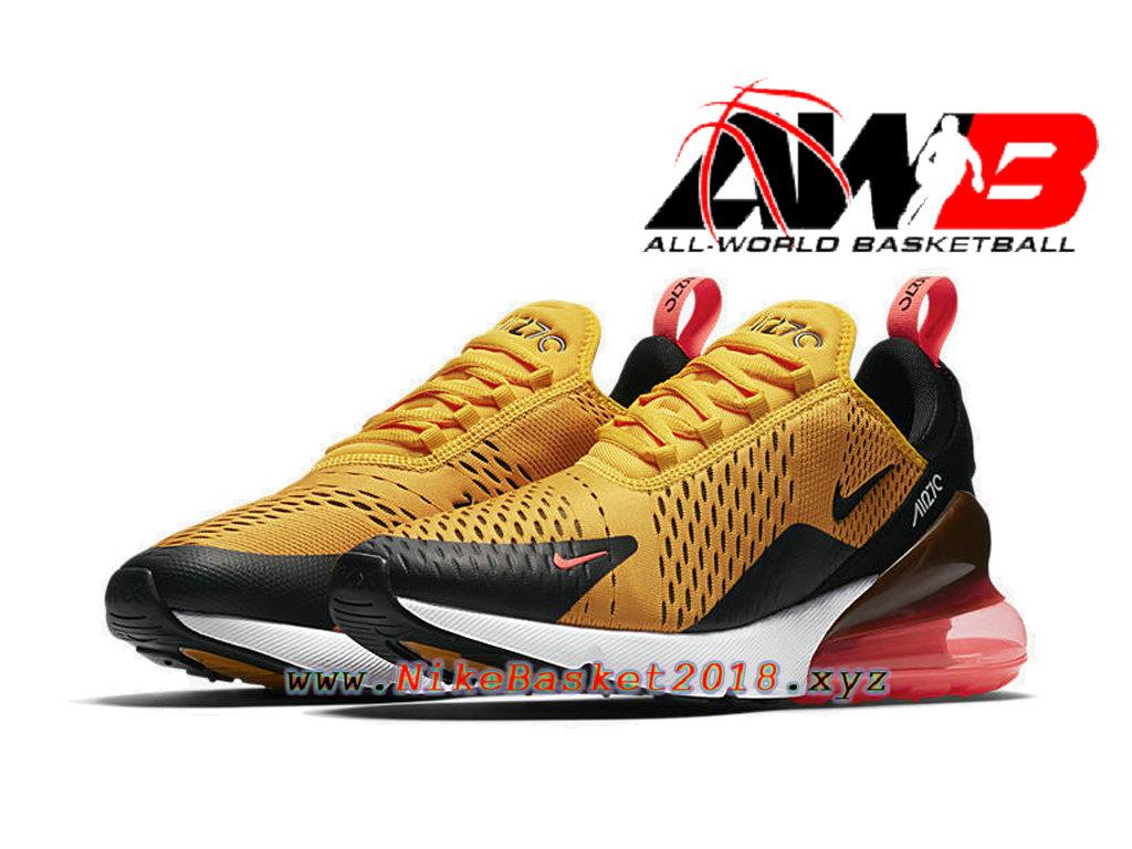 new styles 62915 dfb25 ... Chaussures Officiel 2018 Pas Cher Pour Homme Nike Air Max 270 Jaune  Noir AH8050-004 ...