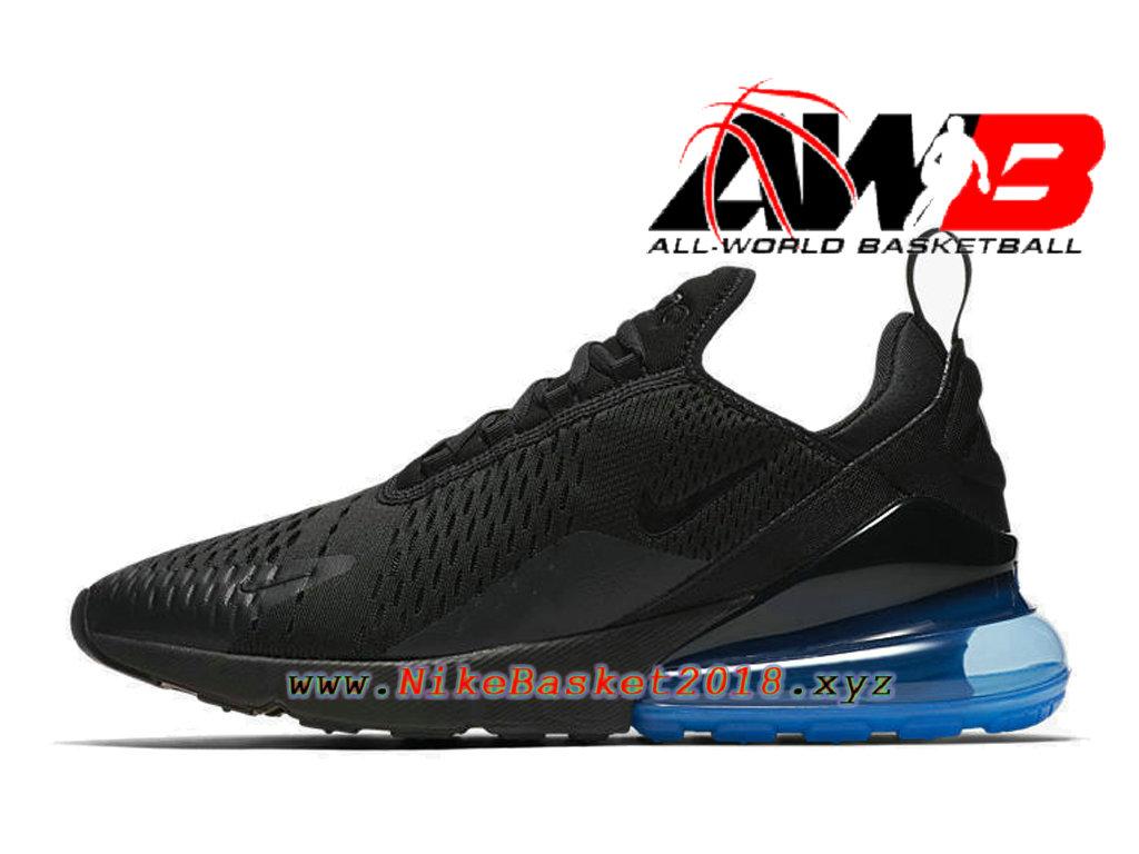 save off aa891 dc969 ... Chaussures Officiel 2018 Pas Cher Pour Homme Nike Air Max 270 Noir Bleu  AH8050-009 ...